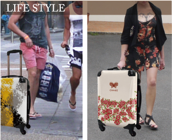 ファッション性と機能性の高いアートスーツケース