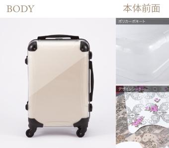強度・軽さに優れたアートスーツケース