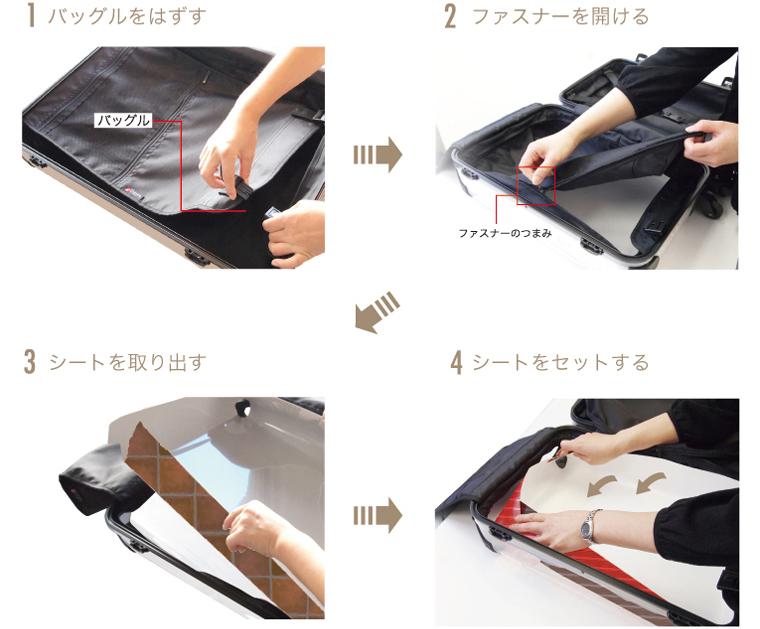スーツケース着せ替え方法